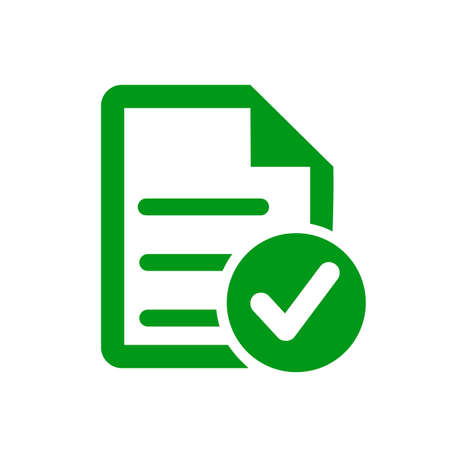 Approval check icon, quality sign - vector for stock