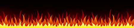 Flame on black background. Vector illustration for design - stock vector