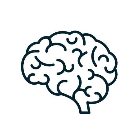 Human brain icon sign