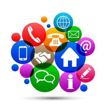 Social media concept 向量圖像