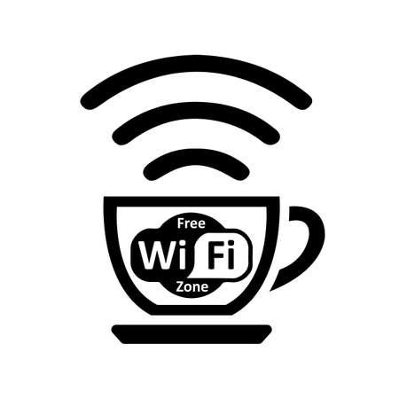 Free wifi zone - vector