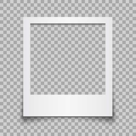 Empty white photo frame - vector for stock