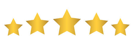 Five stars, rating signs, customer reviews - for stock