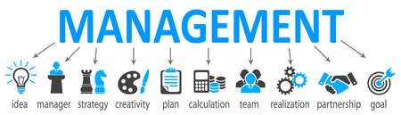 Management concept system - stock vector