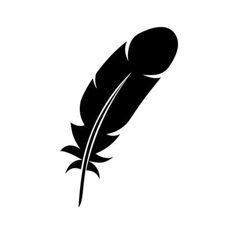 Feather icon sign - vector for stock
