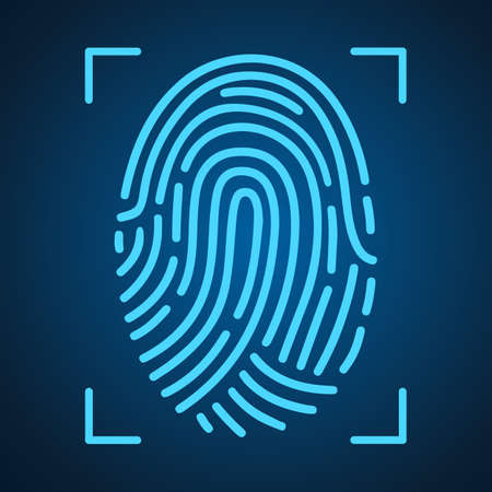 Fingerprint scanning icon for apps with security unlock - for stock