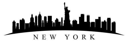 New York city silhouette - stock vector Stock Illustratie