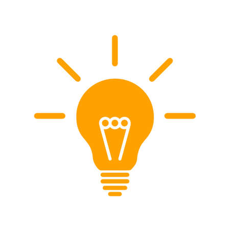 Idea, creative concept bulb sign - vector