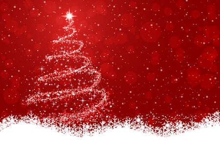 Shine christmas tree - for stock Иллюстрация