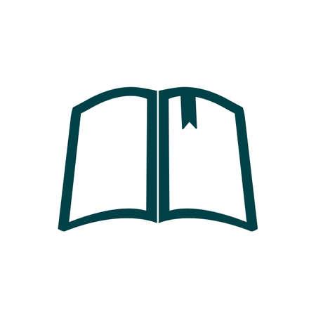 Book silhouette sign icon - for stock vector Vetores