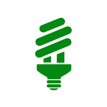 Bulb, eco icon - stock vector