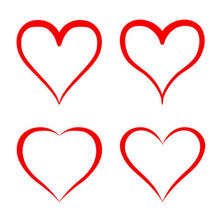 Set of different hearts icon - vector for stock Illusztráció