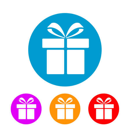 Gift set icon sign - stock vector
