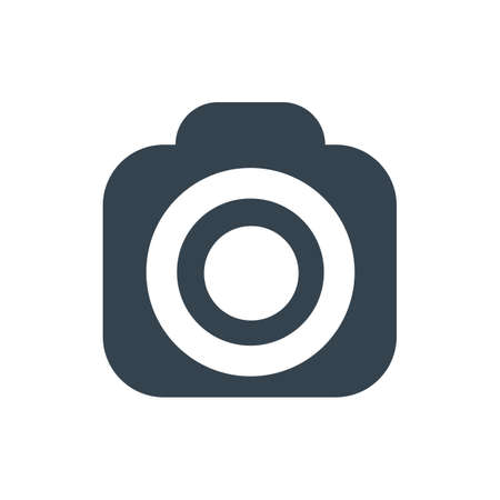 Photo camera flat icon - for stock