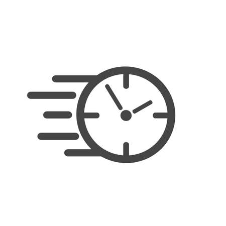 Fast stopwatch line icon. Fast time sign. Speed clock symbol urgency, deadline, time management, competition - vector