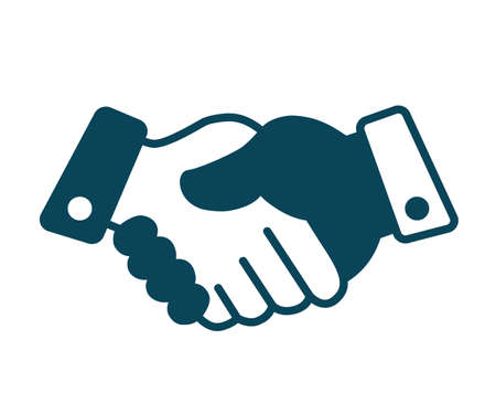 Handshake, partnership, business icon - for stock