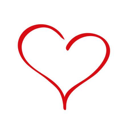 Elegancy red heart - stock vector
