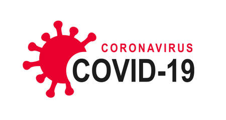Coronavirus text, Corona virus logo, infection symbol, COVID-19, 2019-nCoV - for stock Illusztráció