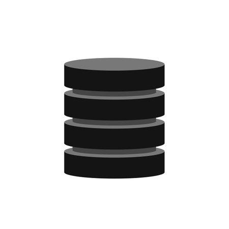 Big database, data storage technology - vector for stock Ilustracje wektorowe