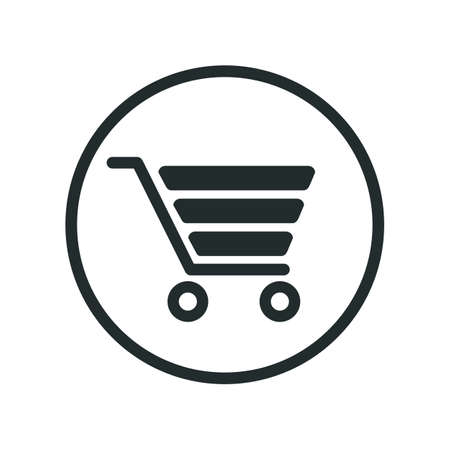 Shop cart icon, buy symbol. Shopping basket icon - vector