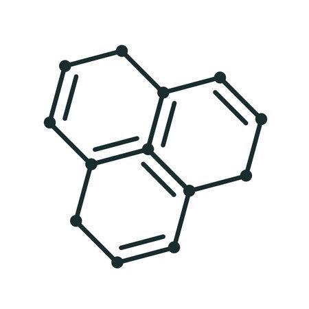 Molecule structure icon form lines, molecular model icon - stock vector