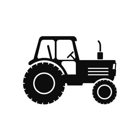 Farmer tractor icon - stock vector