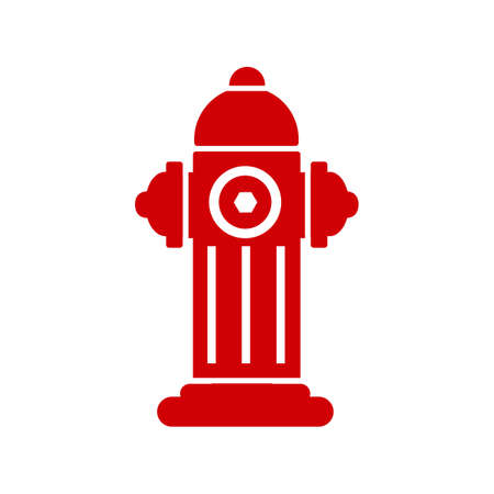 Red fire hydrant icon isolated - stock vector