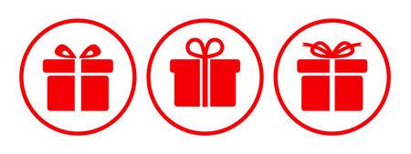 Gift set icon sign - vector Иллюстрация