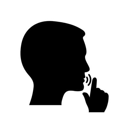 Quiet, please. Keep silence symbol. Keep quiet sign - stock vector