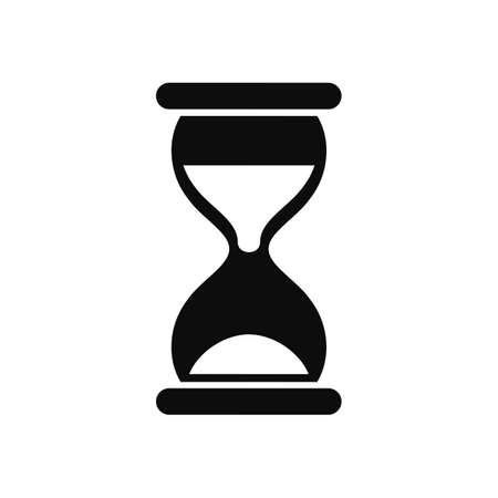 Vintage hourglass, sandglass timer, clock flat icon for apps and websites - vector for stock