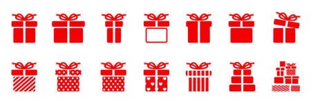 Gift set different icon sign - stock vector