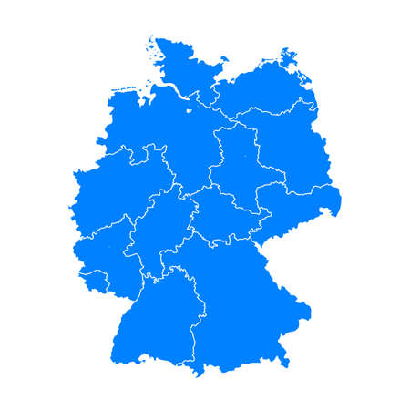 Germany map blue - stock vector 向量圖像