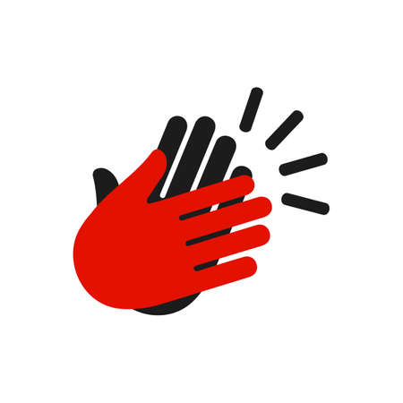High Five Icon. Applause icon, clapping hands, show concept - stock vector