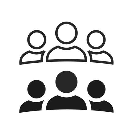 People icon, teamwork, staff, partnership, three person sign - stock vector Illusztráció
