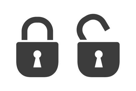 Lock two icons - stock vector Иллюстрация