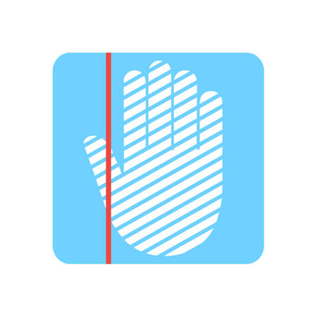 Hand scanning process - stock vector