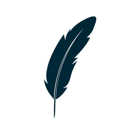 Feather icon illustration - stock vector