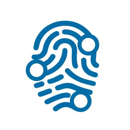 Fingerprint scanning icon sign - vector for stock