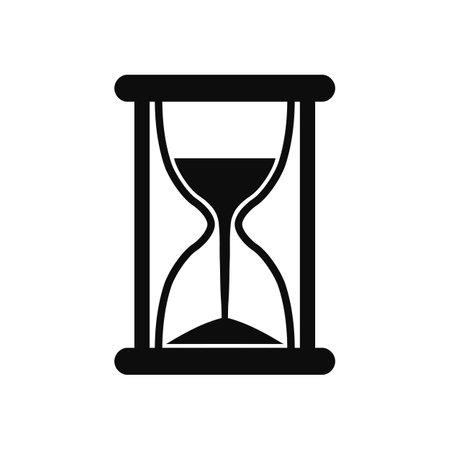 Hourglass icon, sandglass timer, clock flat icon for apps and websites - stock vector Vektoros illusztráció
