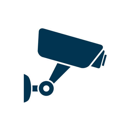 Security camera icon. Surveillance camera. Security equipment and security guard sign - stock vector