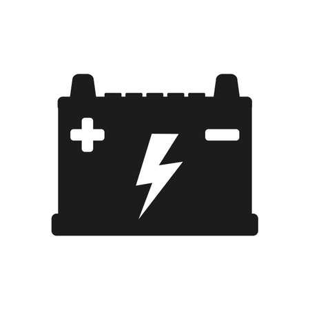 Battery icon parts for cars - vector