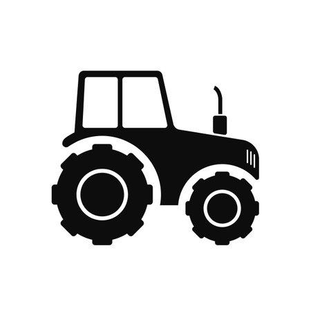 Farmer tractor icon - for stock