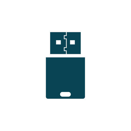 USB flash drive icon - for stock