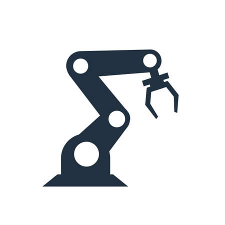 Robotic arm. Industrial robot, robotic industry and technology, machine concept, robot manipulator, industry 4.0 - vector