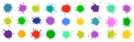 Set different splash, brush strokes - for stock