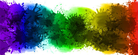 Colorful splash background for design, color rainbow of paints - for stock