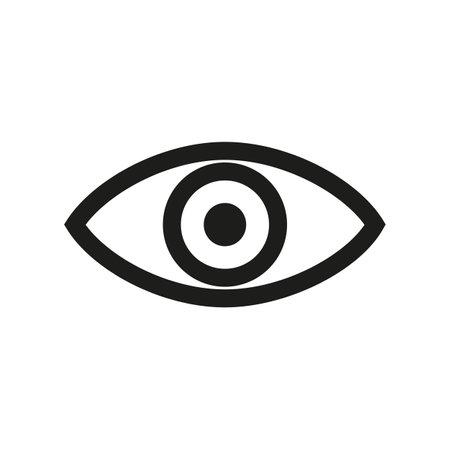 Eye sign icon - for stock vector