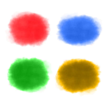 Set paint, brush strokes - stock vector