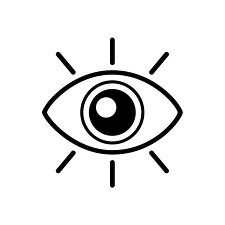 Eye icon, vision sign - vector