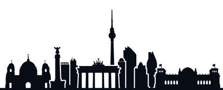 Berlin city silhouette - for stock Иллюстрация